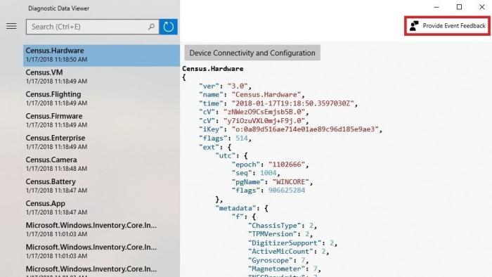 Windows Insider Preview: Telemetriedaten auslesen