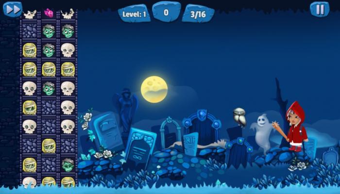 Zombie Strike, ein mit Phaser erstelltes Spiel