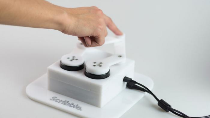 Scribble: Umgekehrte Plotclock mit haptischem Feedback