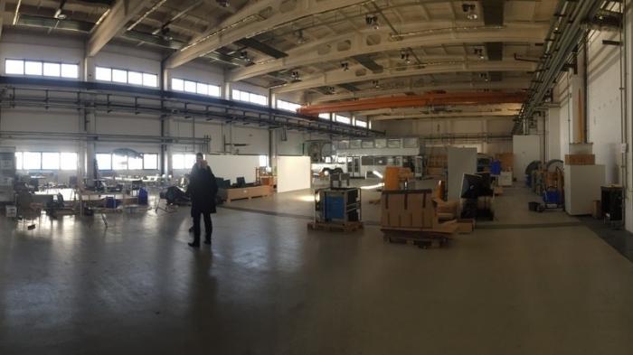Blick in eine riesige Halle