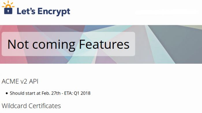 Let\'s Encrypt verschiebt Wildcard-Zertifikate | heise Security