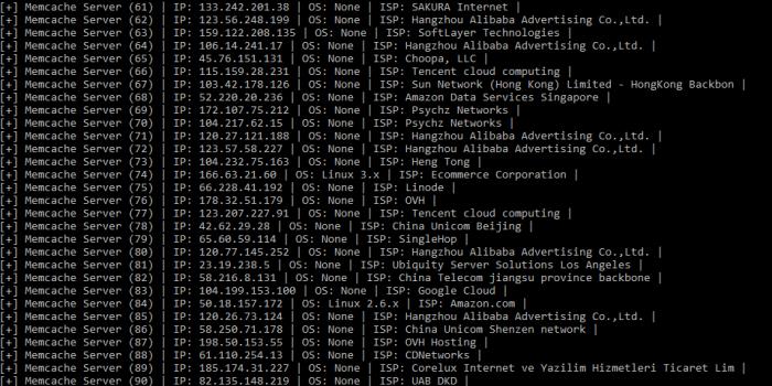 Eins der Angriffs-Tools zieht sich verwundbare Memcached-Server direkt über die API der Suchmaschine Shodan.