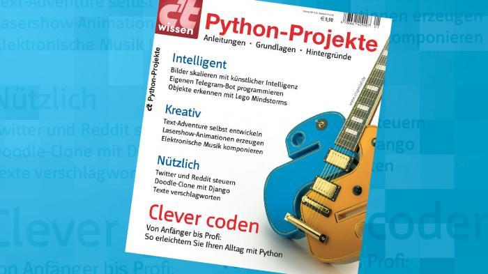 c't-Wissen: Python-Projekte jetzt im Handel