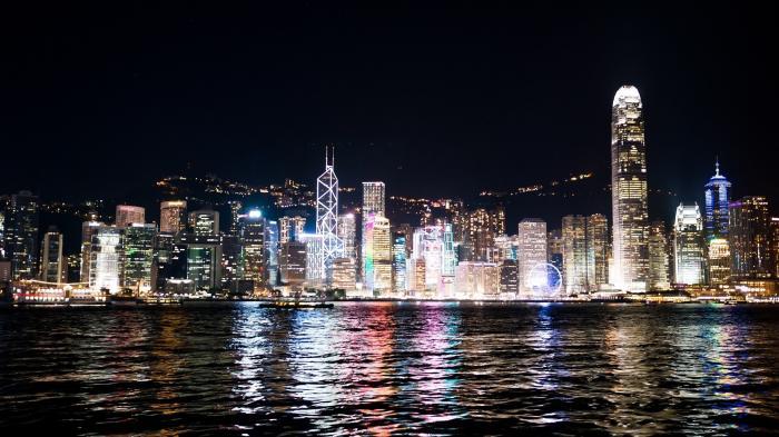 Skyline bei Nacht