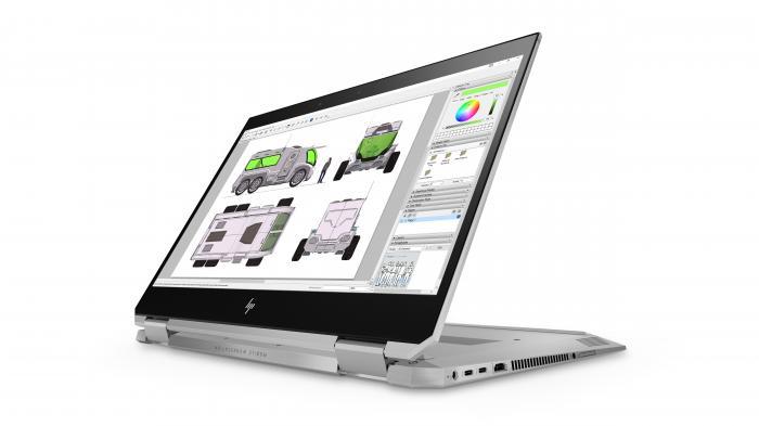 Convertible-PC HP ZBook x360 G5 mit 4K-Display und 600 Lumen