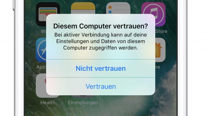 iOS Computer vertrauen