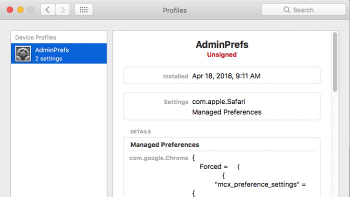 Mac-Malware will sich per Konfigurationsprofil einnisten