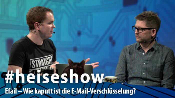 #heiseshow, live ab 12 Uhr: Efail – Wie kaputt ist die E-Mail-Verschlüsselung?