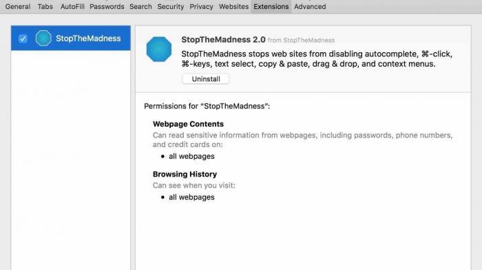 Safari-Erweiterung macht Websites weniger nervig