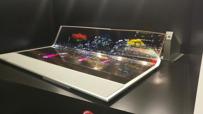 Display Week 2018: Transparenter Videovorhang von LG Display