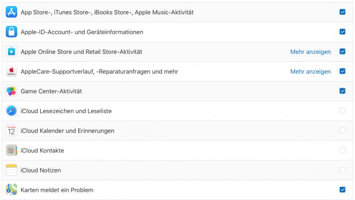 DSGVO: Apple ermöglicht Download der Nutzungsdaten