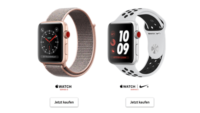 Vodafone: Apple Watch kostet 5 Euro im Monat – mit Vertragspflicht