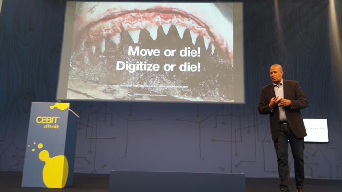 """""""Beweg dich oder stirb"""" – Digitaler Darwinismus auf der Cebit"""