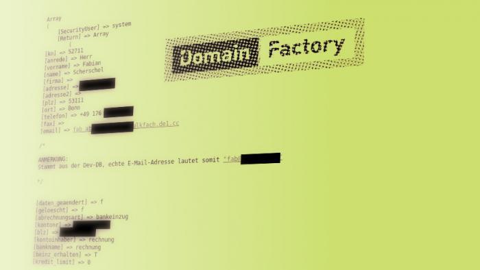 Datenleck bei Domainfactory