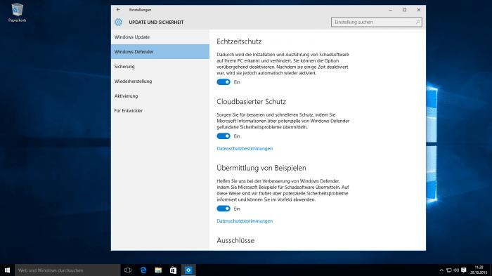 Gratis-Virenschutz: Windows Defender schließt zu kostenpflichten Produkten auf
