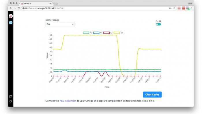 Screenshot OnionOS Sensor Monitor App