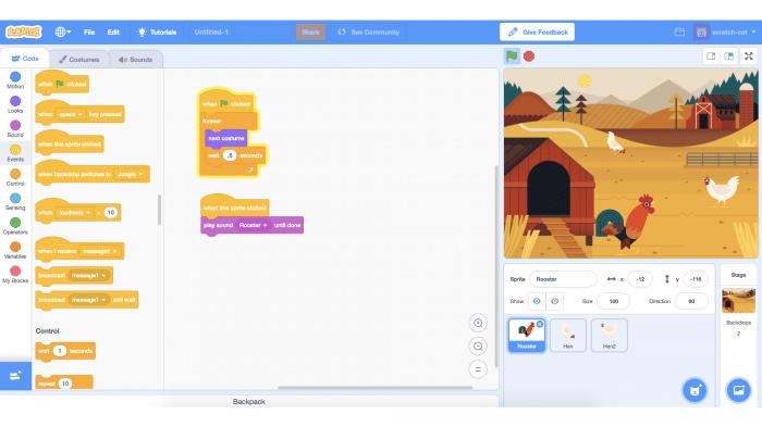 Screenshot Betaversion Scratch 3