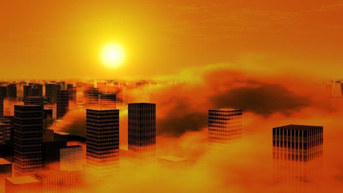 Stadt, Sonne, Klimawandel