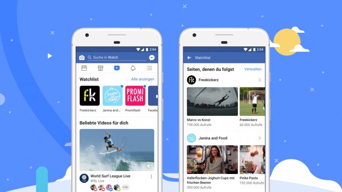 Facebook startet weltweit seine Video-Plattform Watch