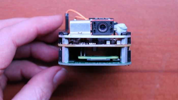 MickMacke Pi-Projektor: Platine mit Raspberry Pi und TI-Aufsteckplatine