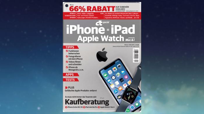 c't iPhone, iPad, Apple Watch mit attraktiven Exklusivrabatten