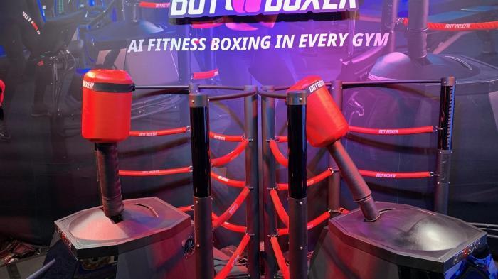 Interaktiver Boxsimulator im Fists-On