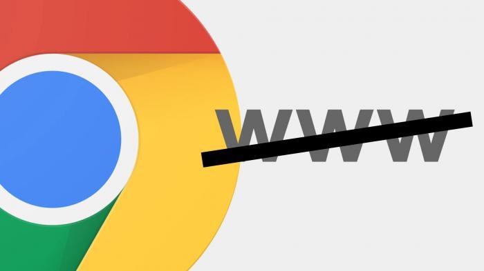 """Chrome versteckt """"www"""" und """"https://"""" in der Adresszeile"""