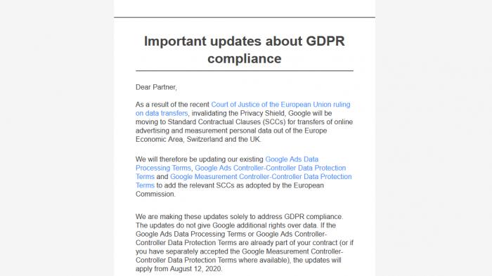 Google setzt auf Standarddatenschutzklauseln nach gekipptem Privacy Shield