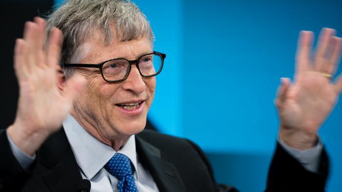 Bill Gates auf einer Konferenz