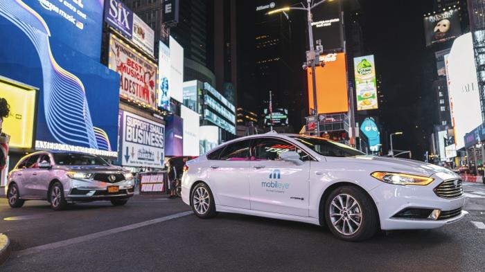 Mobileye-Testfahrzeug in New York City