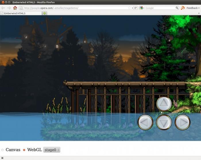 Screenshot: Emberwind mit HTML 5 realisiert