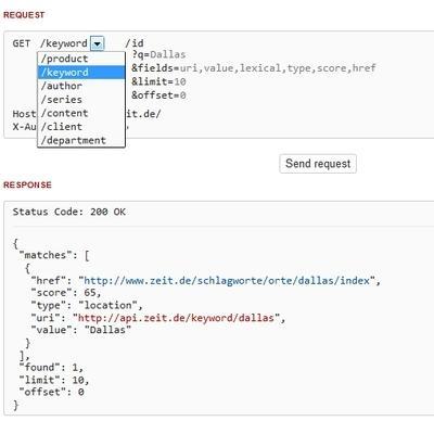 API-Explorer des ZEIT-Archivs
