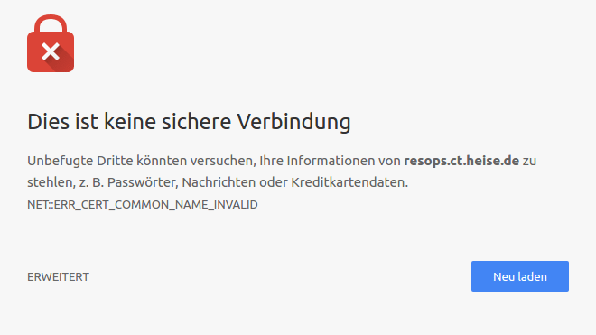 Chrome blockt Zertifikate mit Common Name | heise Security
