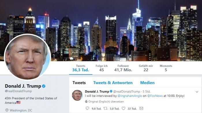 Trump auf Twitter kurzzeitig gesperrt