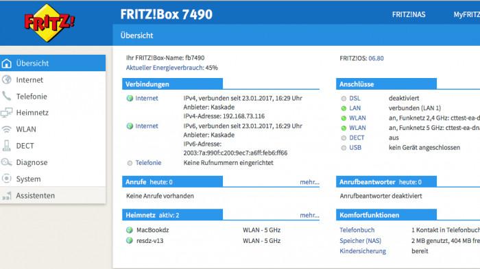 fritzos nun auch f r die fritzbox 7490 erh ltlich heise online. Black Bedroom Furniture Sets. Home Design Ideas