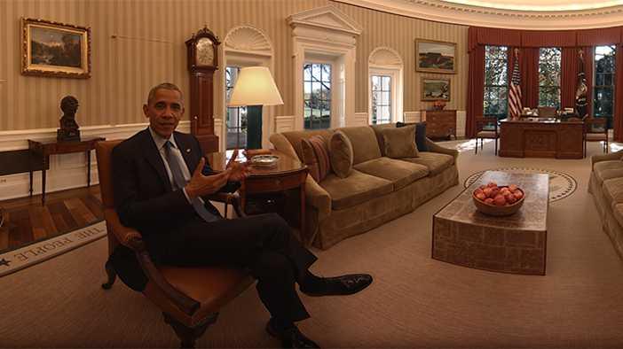 360-Grad-Video: Mit Barack und Michelle Obama durchs Weiße Haus