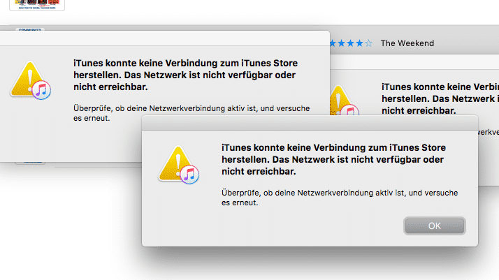Keine Internetverbindung: iTunes nervt Nutzer mit Warndialogen