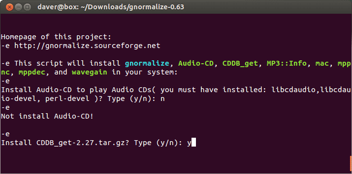 Das Installationsskript richtet nicht nur gnormalize ein, sondern bringt auch weitere Tools und Codecs mit.