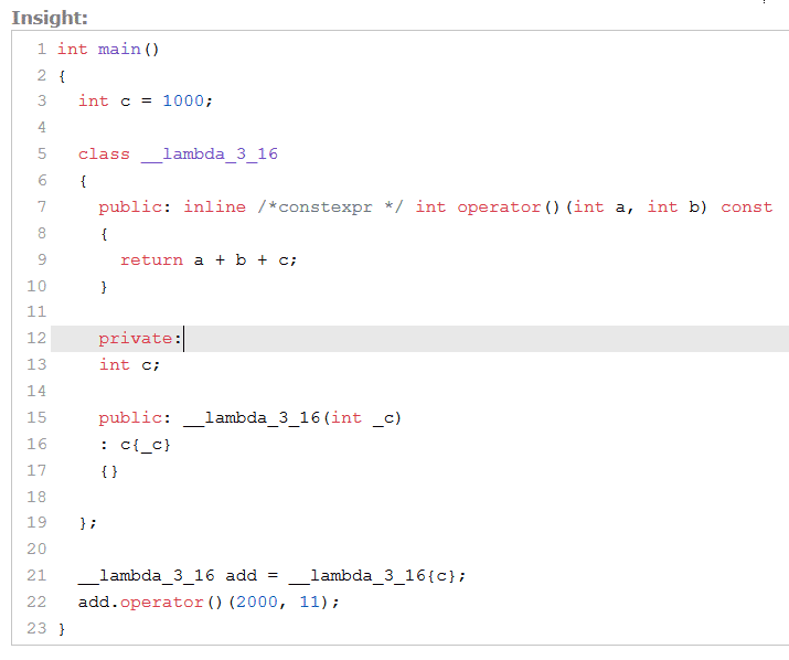 C++ Core Guidelines: Übergabe von Funktionsobjekten als Operatoren