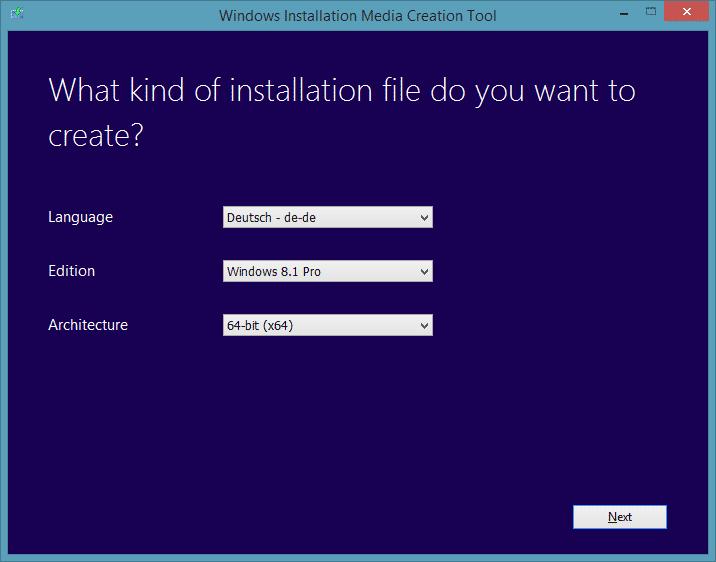 Endlich können sich Besitzer von Windows 8 ein aktuelles Installationsmedium einfach herunterladen. Zum Installieren ist weiterhin ein Installationschlüssel erforderlich.