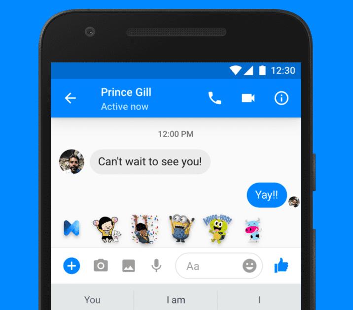 Während eines Chats schlägt M passende Sticker vor. Die Vorschläge soll es wohl weiterhin geben.