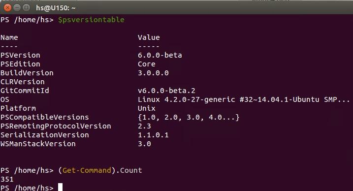 PowerShell Core auf Ubuntu