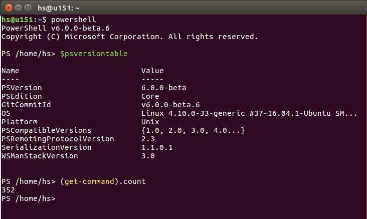 Erste Schritte mit der PowerShell Core unter Ubuntu-Linux