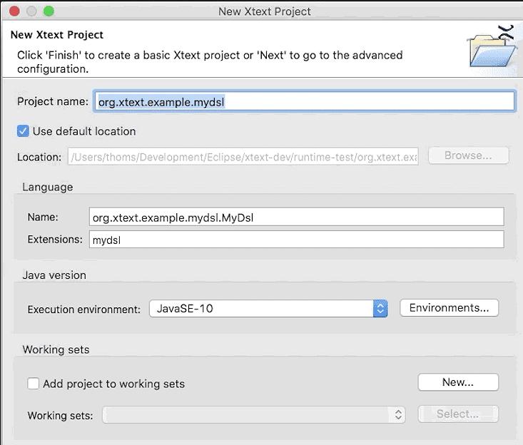 Xtext Project Wizard erlaubt es Entwicklern nun, JUnit 5 zur Unterstützung von Tests auszuwählen. (Bild: Itemis)