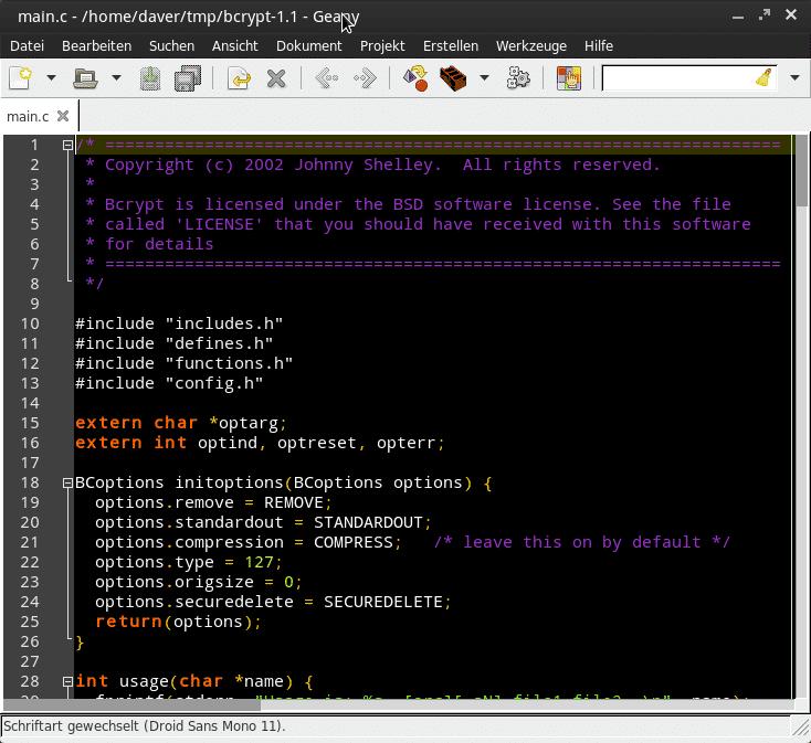 Zum Nachinstallieren gibt es dunkle Farbschemata, die direkt in die Syntaxdefinitionen geschrieben werden müssen.