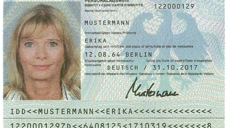 Prüfziffer alter personalausweis IDD Personalausweis