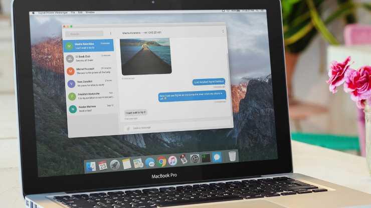 Signal Desktop iOS