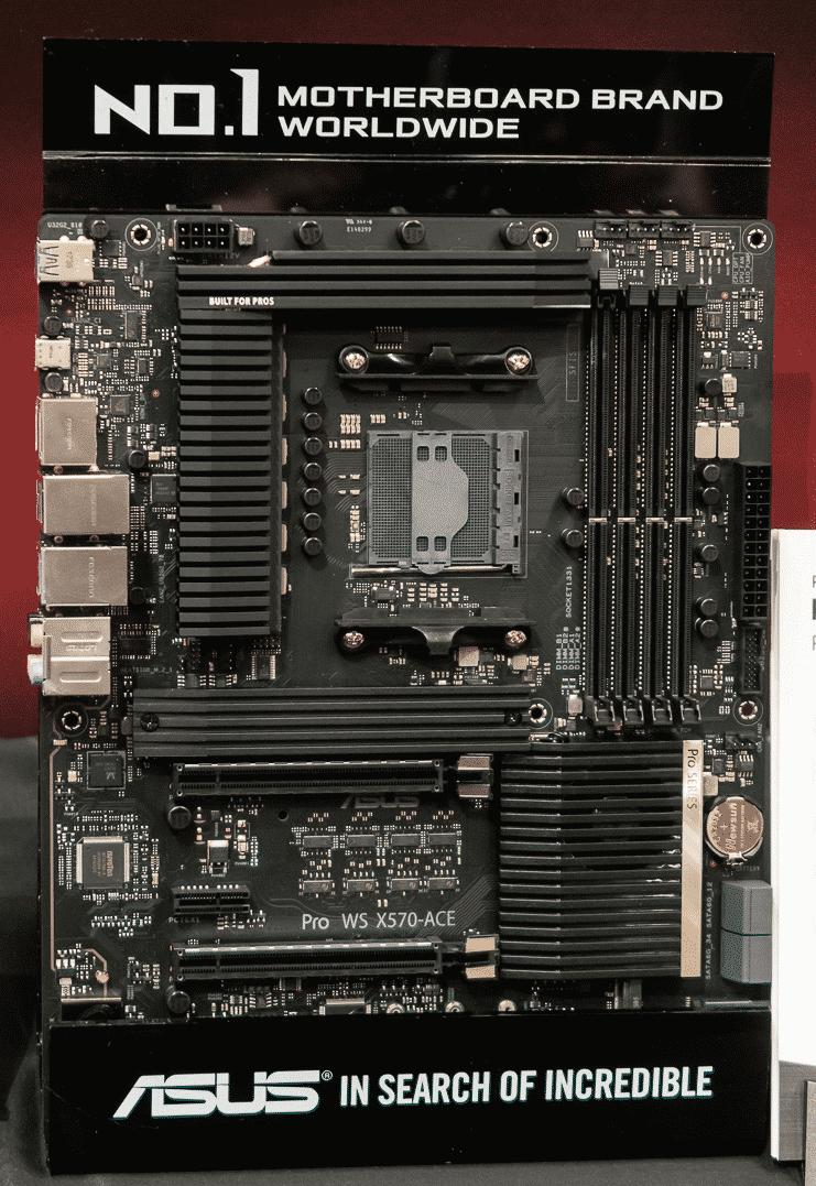 Das AM4-Mainboard Asus Pro WS X570-ACE richtet sich an Profi-Nutzer, die Ryzen 3000 mit ECC-RAM kombinieren.
