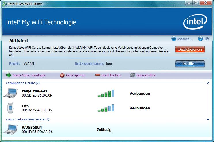 """Nach einem Klick auf die Schaltfläche """"Neues Gerät hinzufügen"""" bietet das My-Wifi-Tool die Authentifizierung per WPS mit Knopfdruck (PBC, Push Button Configuration) oder PIN-Eingabe an."""