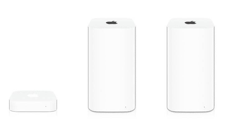 AirPort Express, AirPort Extreme und Time Capsule.